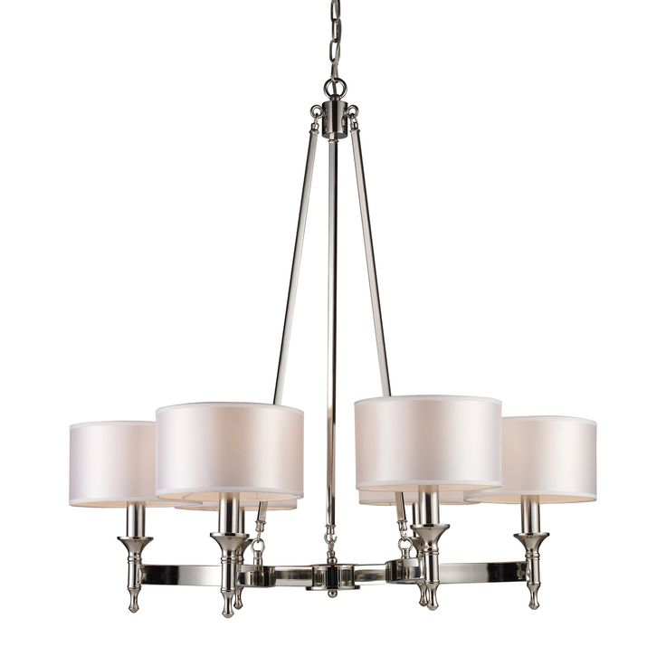 FREE SHIPPING! Shop Joss & Main for your Demi Chandelier. Unique in form, The Watson Collection features a concave arm design for a distinct appearance. Light silver drum shades and a polished nickel finish add to the ambiance.