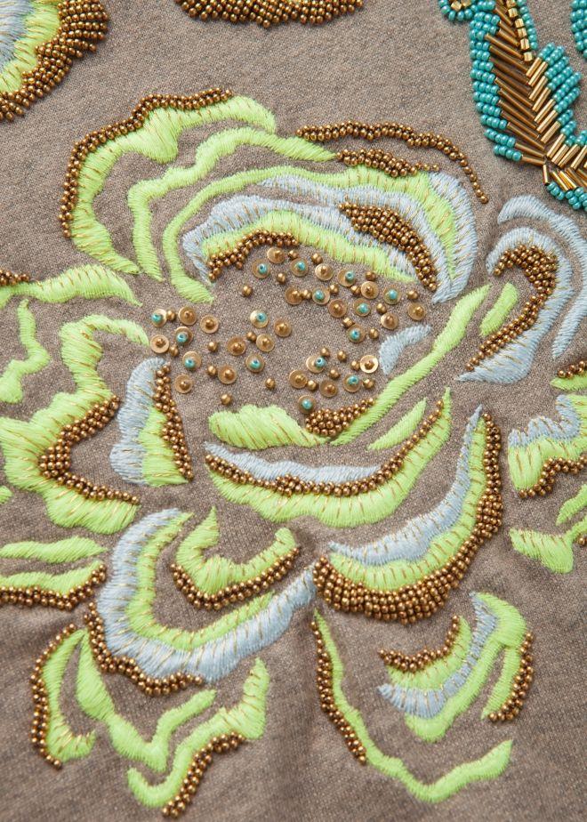 Floral Folk Embroidered