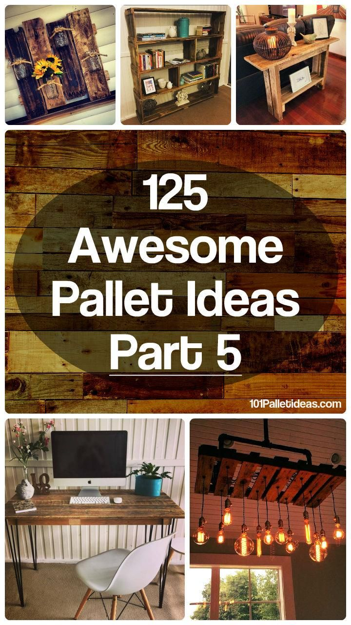 125 Awesome DIY Pallet Furniture Ideas | 101 Pallet Ideas - Part 5                                                                                                                                                                                 More