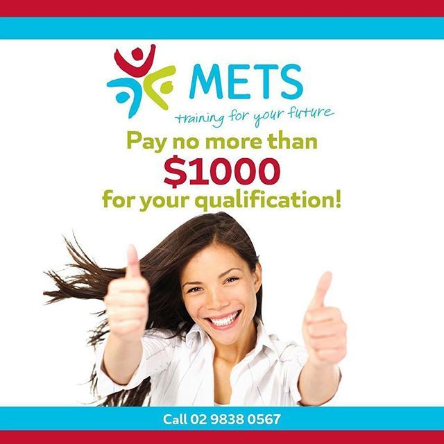 Never pay anything more than $1000 for your training!  #savings #greatdeals #qualifications #training #mets #qualificationscomeatme #betterjobs