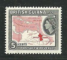 Guyana. Formerly called British Guiana, this was the only British Colony in South America. It became independent in 1966. This issue is from the early part of the reign of Queen Elizabeth II in the 1950's before independence and the name change.