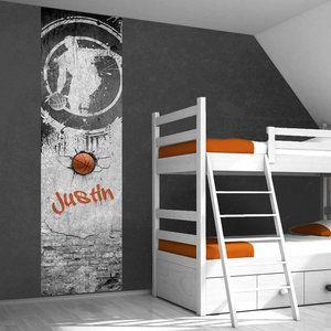 Muursticker paneel: Basketbal