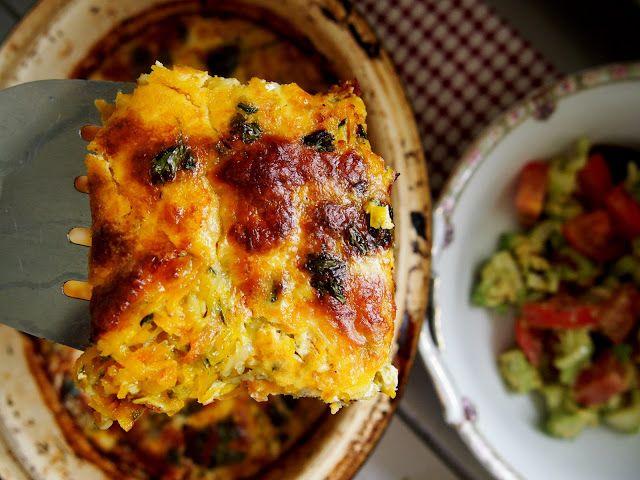petite kitchen: zucchini pumpkin bake with mozzarella topping