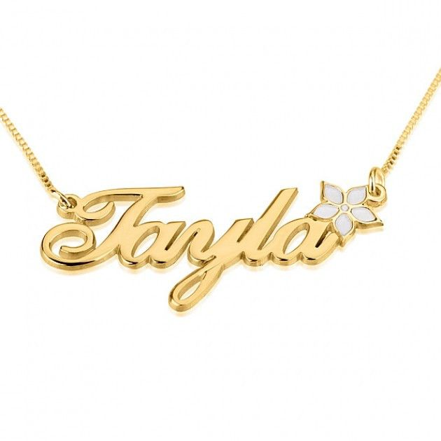 151 best 24K Gold Plated Name Necklace images on Pinterest | Name ...