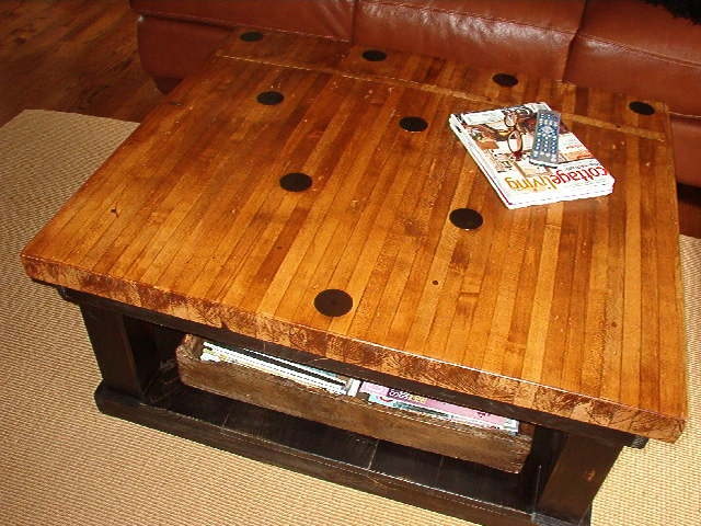 Pin Deck Coffee Table. Bowled Over With Hinz57.com