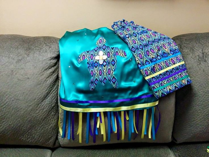 Maliseet inspired Pow wow Shawl & Skirt....Sewn by Diana Perley & desgned by Karen Perley/Miller