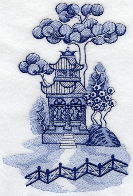 blue willow china   This design is inspired by the Blue Willow china patterns. Great for ...