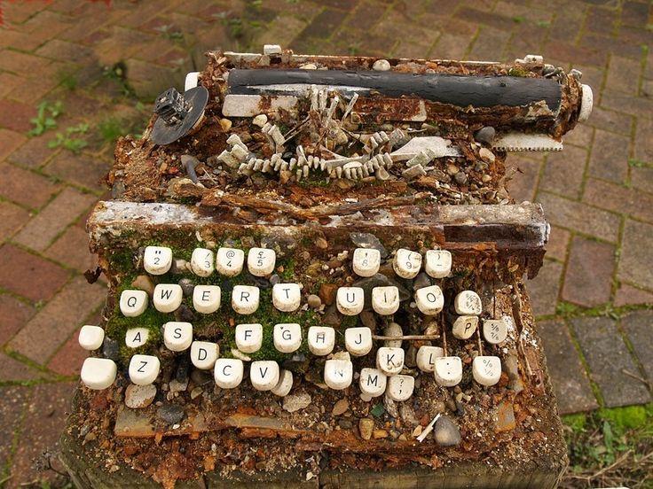Rust | Decay | Fragment | Typewriter exhumed from Deptford Creek, London