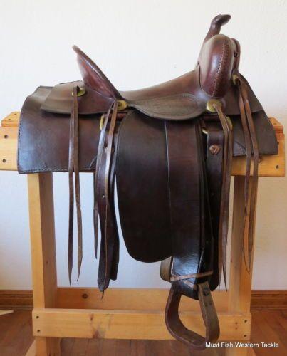 Vintage 1920 S Handmade Steel Fork High Back Saddle Very
