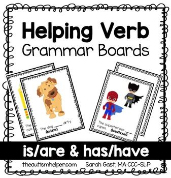 Practicing grammar errors can be boring or monotonous. A fun way to practice selecting the appropriate helping verb are with these interactive grammar cards. Students select the correct response for each picture. Students will need to identify the correct helping verb for sentence.