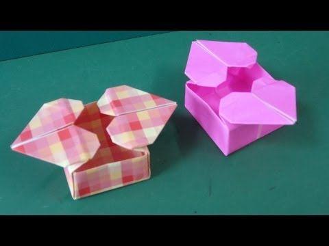 """折り紙「ハートつきの箱」折り方""""Heart Box""""Origami - YouTube"""