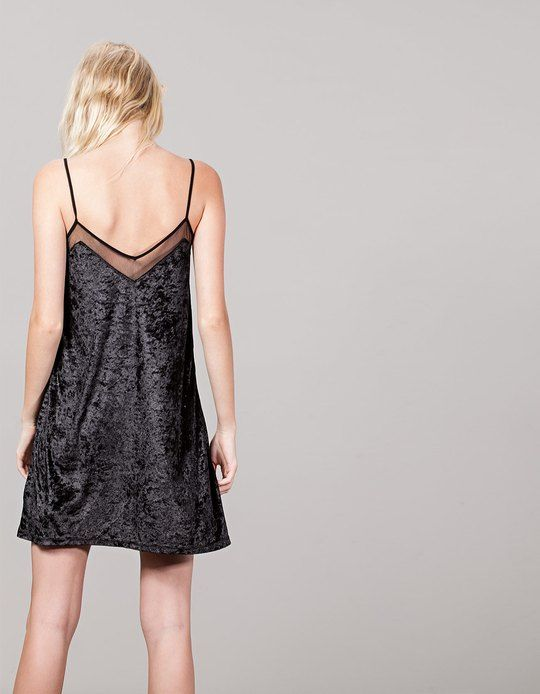At Stradivarius you'll find 1 Lace Velvet Dress for woman for just 17.99 £…