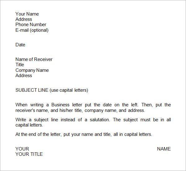 25+ Best Ideas About Formal Business Letter Format On Pinterest