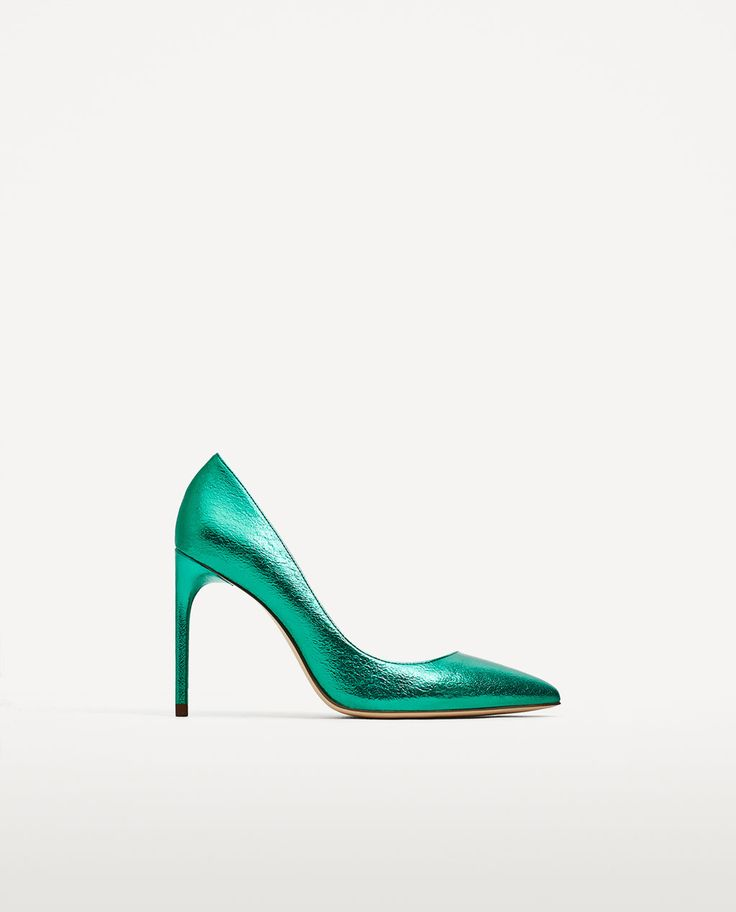METALLIC GREEN COURT SHOES-SHOES-WOMAN-COLLECTION AW/17 | ZARA United Kingdom
