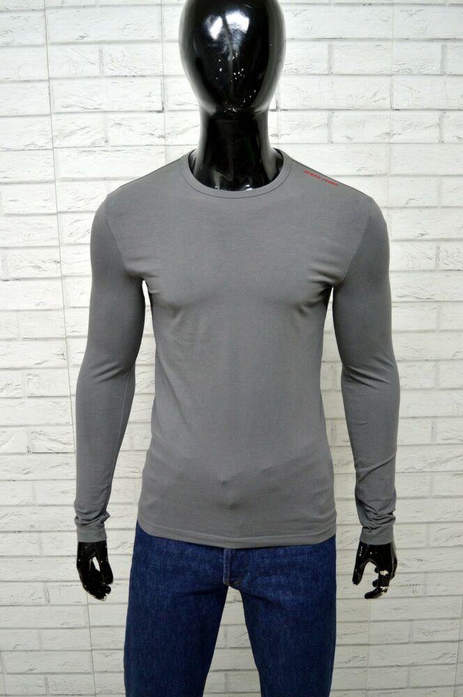 a43805108904 Maglia Uomo GUESS Taglia Size M Shirt Polo Maglietta Shirt Grigio Elastica