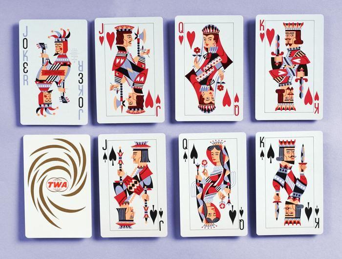 TWA Nu-Vue Playing Cards c.1964