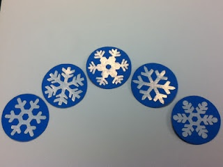five little snowflakes finger plays...