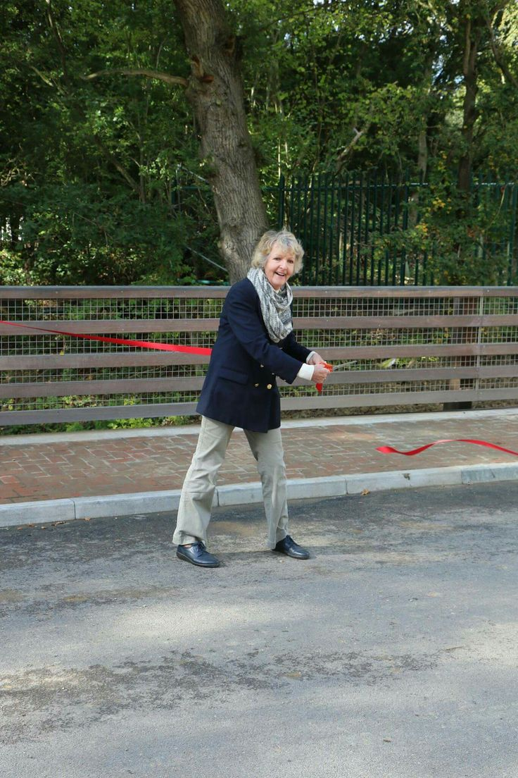 Dame Penelope Keith opening the Wey and Arun Canal Trust's Compasses Bridge in  Alfold, Surrey, October 2, 2016