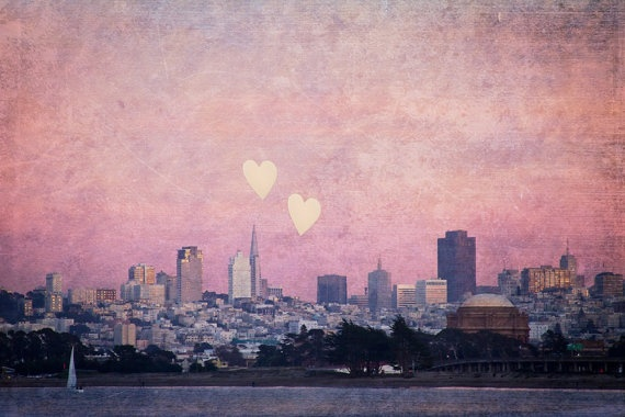 san francisco: Nursery Idea, San Francisco Skyline, Favorite Places, Fine Art, Left