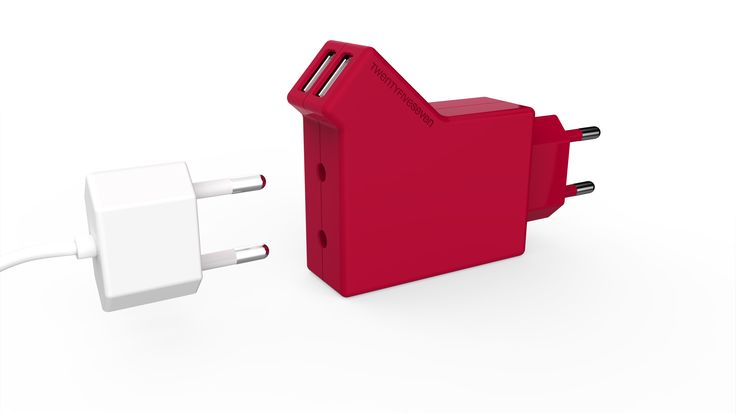 DUO HOME HIGH POWER CHARGER -  With its unique design, 'Twentyfiveseven' Duo Home Charger lets you charge two devices at the same time and still gives you a passthrough free power socket! http://www.twentyfive-seven.com