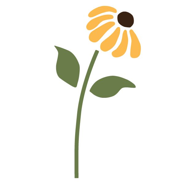Daisy Wall Stencil for Girls Flower Room or Baby Nursery