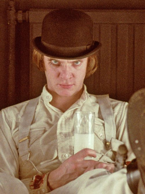 Malcolm McDowell in A Clockwork Orange 1971.