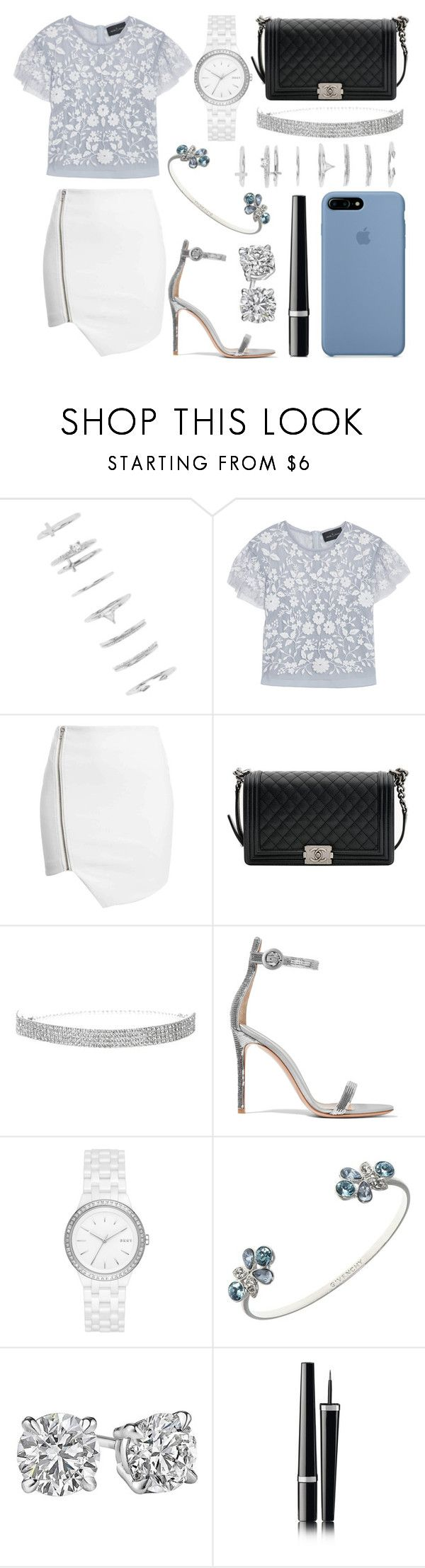 """""""394."""" by plaraa on Polyvore featuring moda, Forever 21, Needle & Thread, Chanel, Gianvito Rossi, DKNY y Givenchy"""