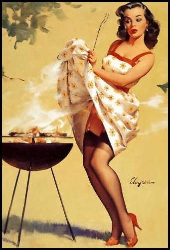 Barbecue pin up girl. Reppined by: bbqsecrets.ca