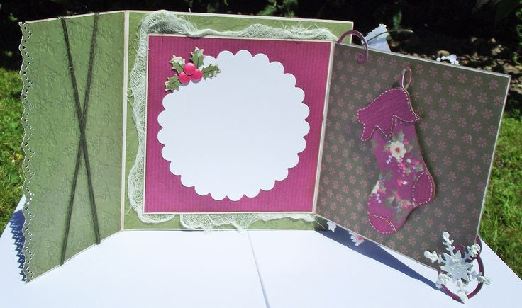 3 fold magnolia tilda christmas card inside
