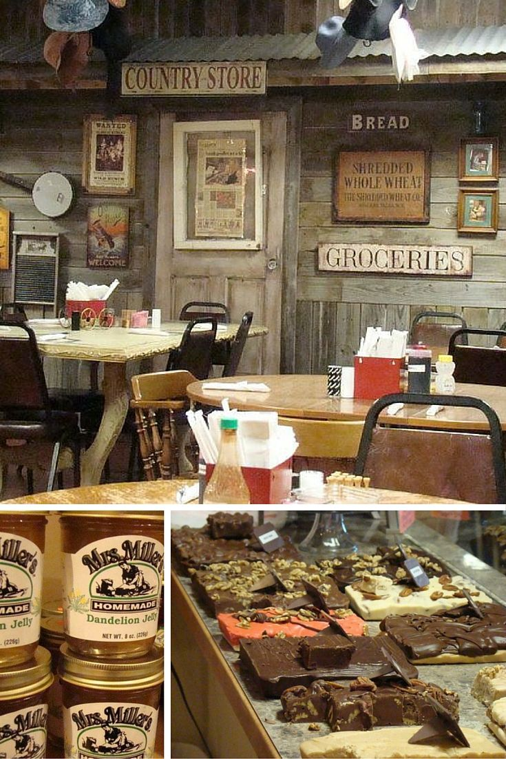 The Amish Country Store & Restaurant in Muskogee, Oklahoma gives an authentic experience with homemade goods for sale including fudges, pastries, jellies, breads and cheeses. There is also a delicious country cooking restaurant attached.