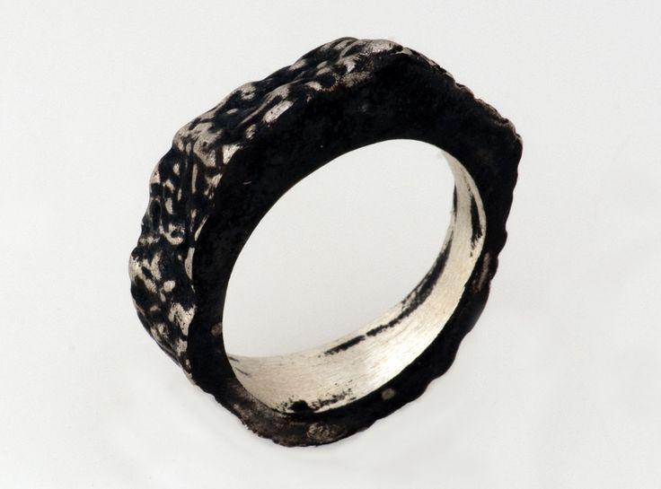 MELIO - Contemporary Jewelry ~ Animal Prints ~  oxidized silver ring