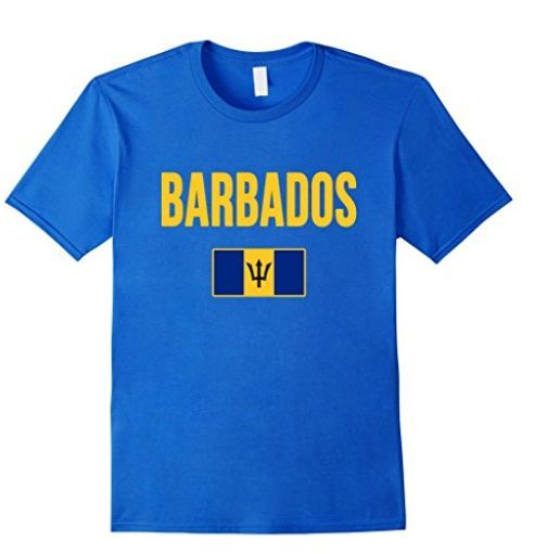 Show your love of Barbados every time you wear this T-shirt  Also available in light blue, black, brown and navy.
