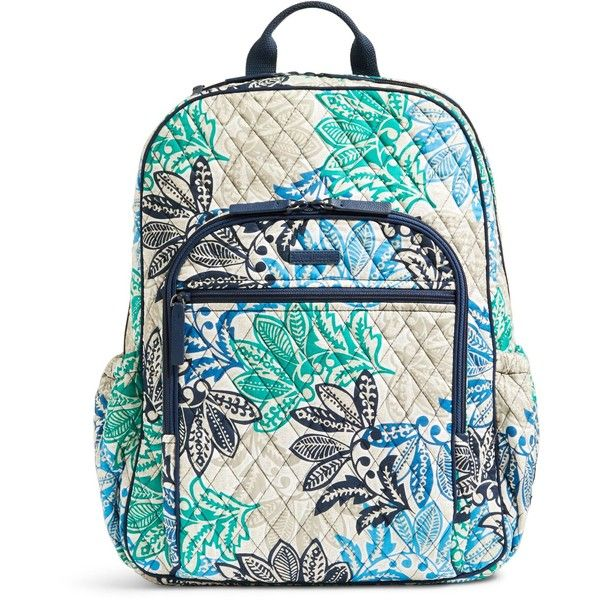 Vera Bradley Campus Tech Backpack (3275 TWD) ❤ liked on Polyvore featuring bags, backpacks, santiago, vera bradley, quilted backpack, zipper bag, backpack bags and pocket bag