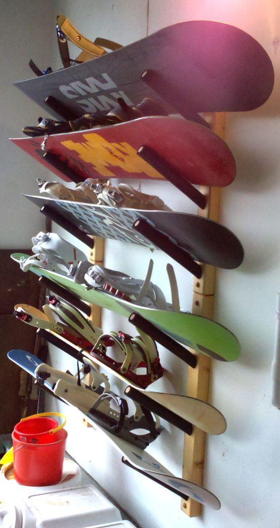Garage Snowboard Rack