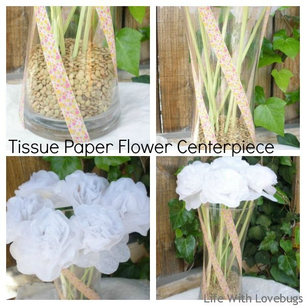 Tissue paper centerpiece   Tissue Paper Flower Centerpiece - Life With Lovebugs