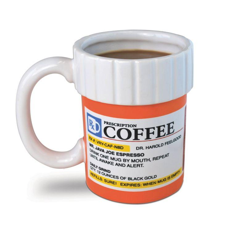 Prescription Coffee Mug @Andrea J: Pills Bottle, Big Mouths, Coff Mugs, Cups, Gifts Ideas, Toys, Prescription Coff, Coffee Mugs, Gag Gifts