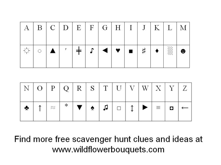 Wildflower Bouquets – Enjoy Simple Pleasures: Katrena's Scavenger Hunt #4 With Alphabet Code Clues