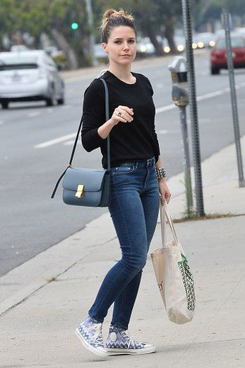 Sophia Bush was spotted running errands in a pair of Missoni x Converse sneakers.