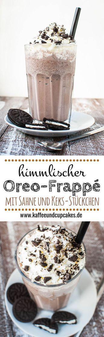 Himmlischer Oreo-Frappé mit Sahne und Keks-Stückchen  # essen