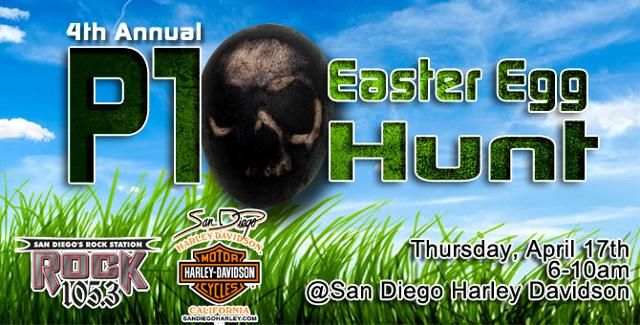 """Live Broadcast from San Diego Harley-Davidson! You don't want to miss this Live Broadcast from San Diego Harley-Davidson! All members of San Diego's #1 Morning Radio Show, """"THE SHOW"""" will be on site at our new Morena location doing a LIVE broadcast and their annual Easter Egg hunt! Prizes are endless! IHOP will be cooking up breakfast for everyone who attends! Shop Opens at 6am Today!"""