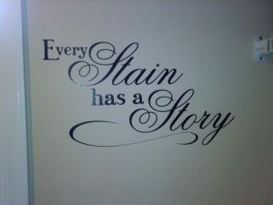 Quote I came up with for my laundry room wall - to remind myself that having laundry to do is a blessing :) by pauline