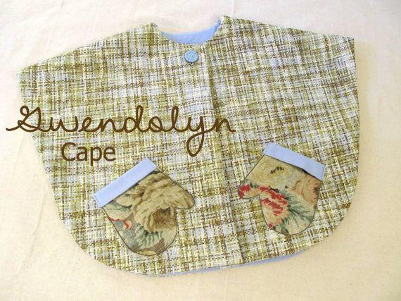 Gwendolyn - Girl's Cape Pattern. Easy Girl's Sewing Pattern. Toddler Sewing Pattern. Sizes 1-10 on Etsy, $7.95