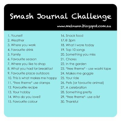 Great idea to capture some of the moments of daily life!!  Life is a Canvas: Smash Book Challenge