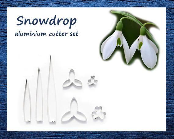 Snowdrop Flower Cutter Set Click For Details By Cutsuncutters Handmade Cutter Flowers