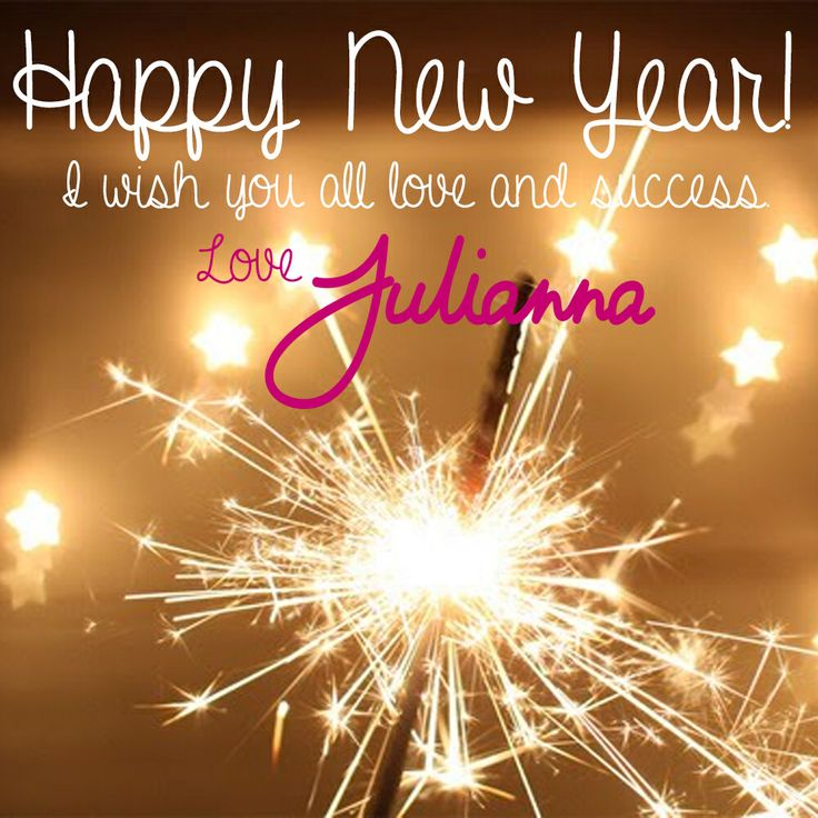 HAPPY NEW YEAR!!! Thank you all for your love and support this year ❤️ I wish you the very best this 2014. Love, Julianna xx