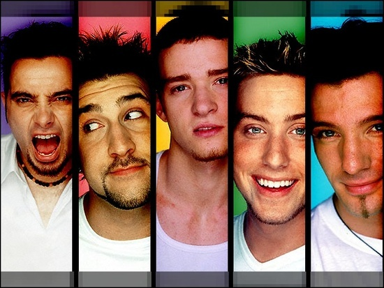 Nsync: Chris Kirkpatrick, Joey Fatone, Justin Timberlake, Justin Timberlake, Lance Bass, and JC Chasez <3