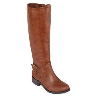 arizona wide calf womens boots jcpenney