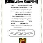 Martin Luther King Jr. Activities. Activity packet includes Dr. Martin Luther King, Jr. Fill-in with key, Dr. Martin Luther King, I Have a Dream Gr...