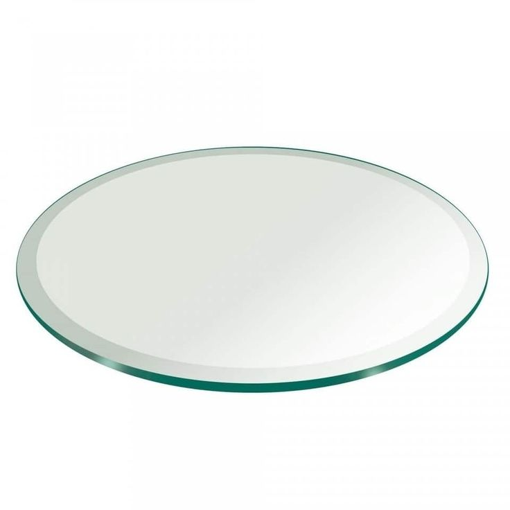 "3/4"" Thick Round Glass Table Top 1"" Beveled Polish Tempered (36 inch round), Clear"