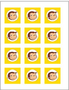 Curious George Cupcake Toppers...free!